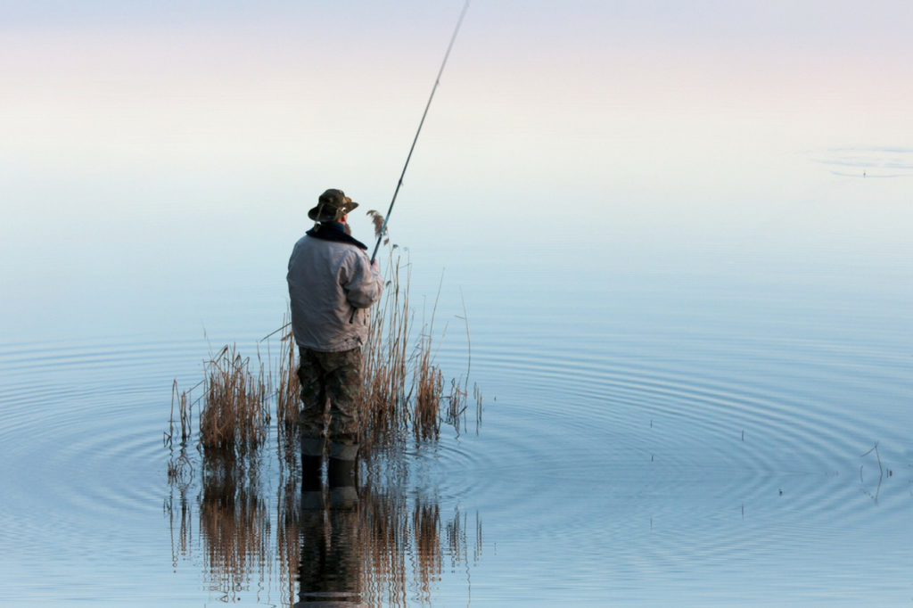 Mindful activity to reduce stress - fishing